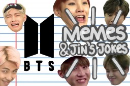 BTS memes & Jin's jokes Minecraft Blog Post