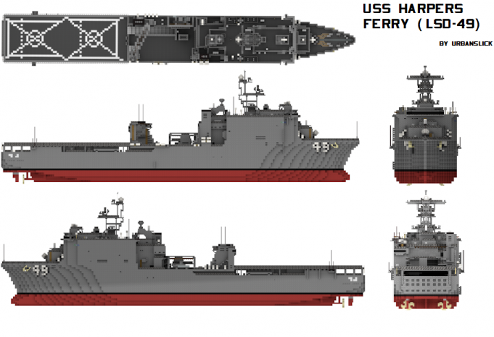 USS Harpers Ferry (LSD-49) 1:1 scale Minecraft Project