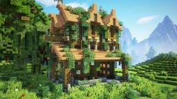 How To Build An Overgrown Medieval House Minecraft Project