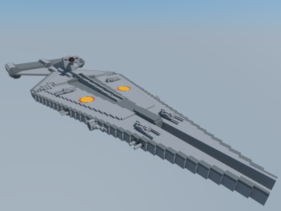11 Scale Arquitens Class Light Cruiser Minecraft Project