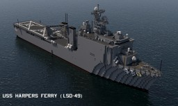 USS Harpers Ferry (LSD-49)  1:1 scale Minecraft Map & Project
