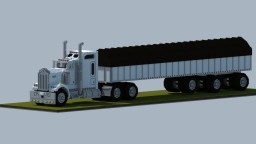 Kenworth W900 with spread axle trailer Minecraft Map & Project