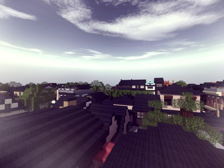 The roofs of the district