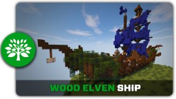 Wood Elven Ship Tutorial Minecraft Project