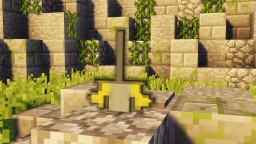 Minecraft - How To Make King Arthur's The Sword In The Stone | Banner | Tutorial