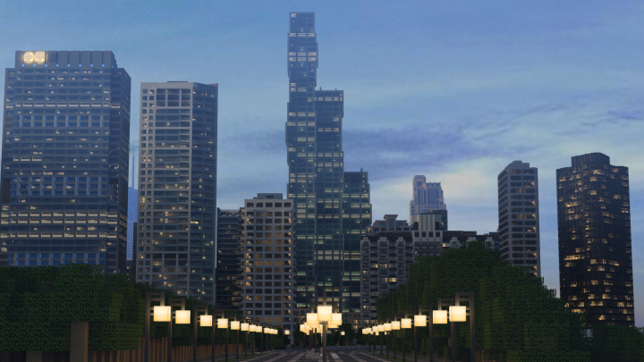 Looking North from Lake Shore Drive towards the Wanda Vista, soon to be the 3rd tallest building in the city