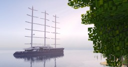 Black Pearl - Sailingyacht [1:1 Scale] Minecraft Map & Project