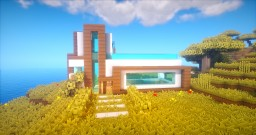 MODERN HOUSE WITH A ROOFTOP POOL Minecraft Map & Project