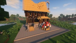 Medieval Corner House Minecraft Map & Project