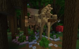 Treehouse // Roofed Forest Build Minecraft Map & Project
