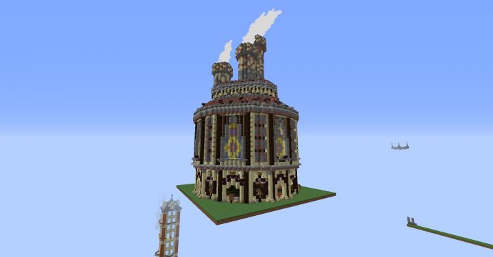 Steampunk Factory Spawn Minecraft Project - Minecraft hauser spawnen