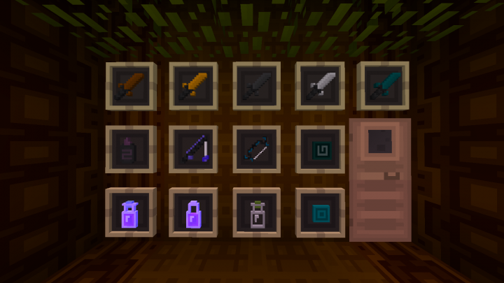 swords and other pvp related items