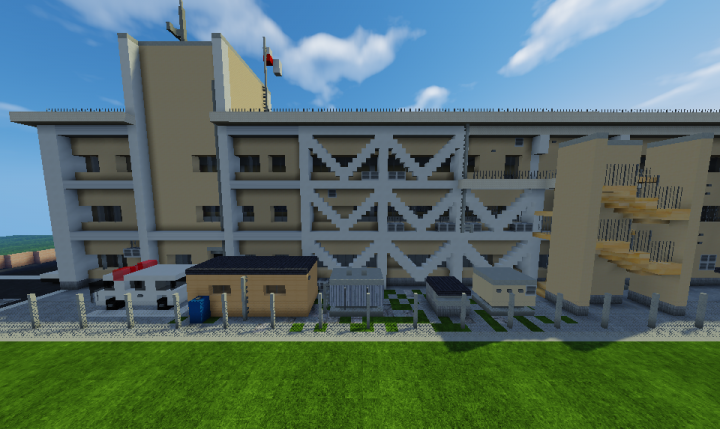 The back of the police station