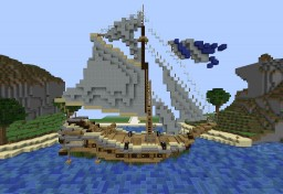 Black and White Ship Minecraft Project