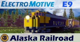[1.5:1 Scale] EMD E9 - Alaska railroad ARR diesel-electric locomotive Minecraft