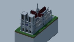 Cathédrale Gothique inspirée de Notre-dame de Paris (Rp-Build) [World Download] Minecraft Map & Project
