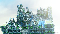 Entity Builds Futuristic City Minecraft
