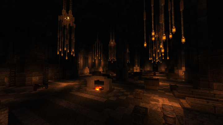The smelting hall