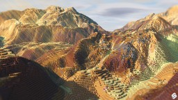 MAJESTIC MESA - A colorful epic buildable terrain | [DOWNLOAD!] Minecraft Project