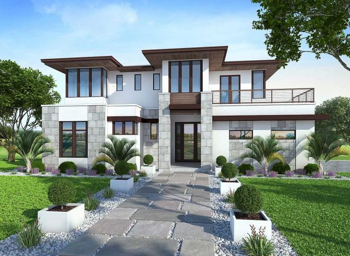 Recreation: Modern House Minecraft Project