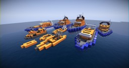 RNLI Life Boat Bundle | (Download) Minecraft Map & Project