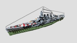 Italian Battleship Roma 1:1 Minecraft Project