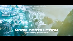 Moon Destruction, Front-Line in Space Minecraft Map & Project
