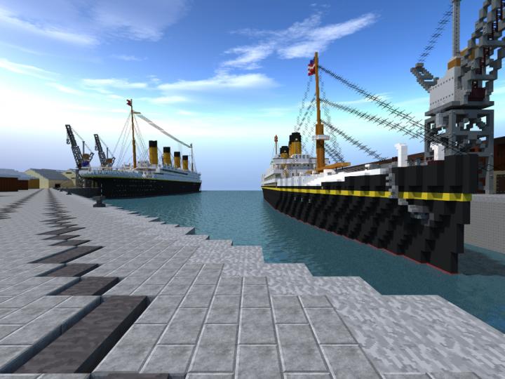 0055716ceae2d Southampton Docks 1912 Minecraft Project