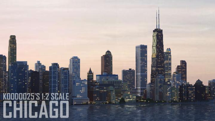 Chicago Illinois 1 2 Scale Minecraft Project