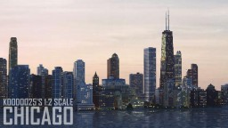 Chicago, Illinois - 1:2 Scale Minecraft Map & Project