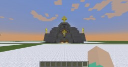 Small Middle Ages Cross Shaped Cathedral Minecraft Project