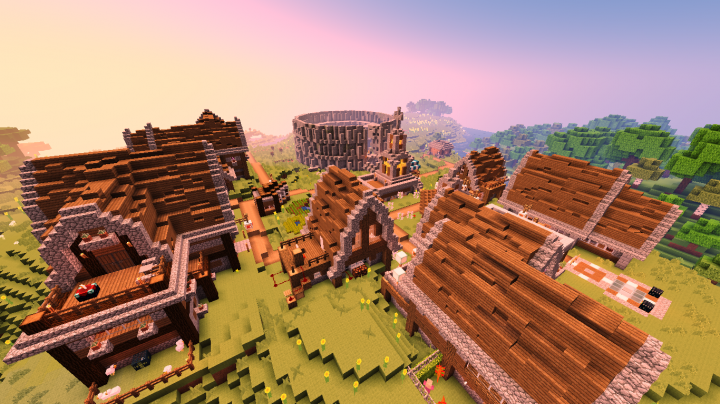 A rustic town with plenty of shops!