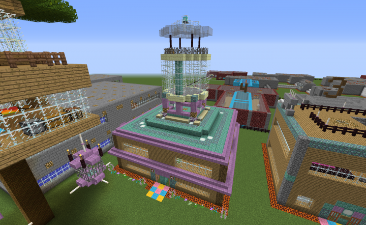 Main building with a new scout tower!