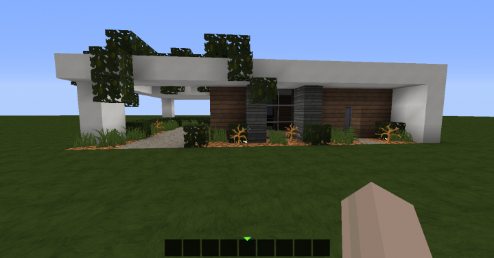 simple modern house 20x15 minecraft project