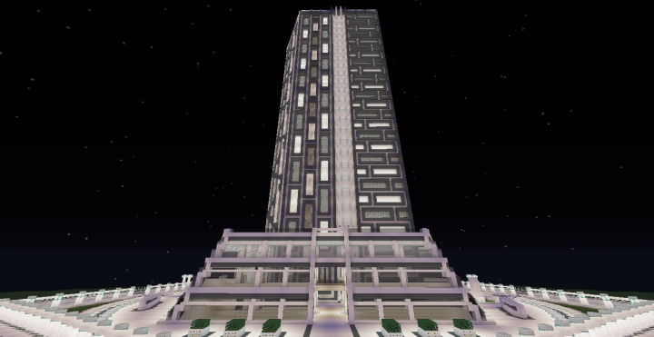 Quartz Tower 15 Minecraft Project