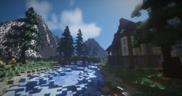 Medieval house with landscape Minecraft