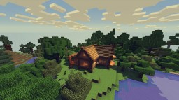 Little Midevil House in a forest Minecraft Project