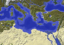 2K Mediterranean with Custom Biomes Minecraft Map & Project