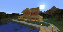Wooden Lake  House 4 Minecraft Map & Project