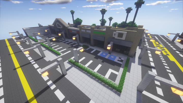 Strip Mall Greenfield 0 5 Minecraft Map