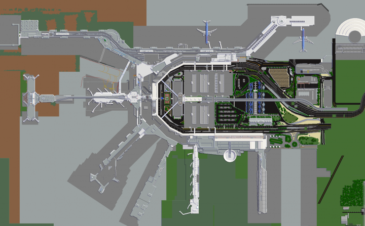 Journeymap view of the airport