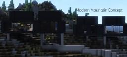 Modern Mountain House Concept Minecraft