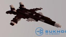 Sukhoi Su-47 Berkut | NATO: Firkin | Scale: 1,5:1 Minecraft