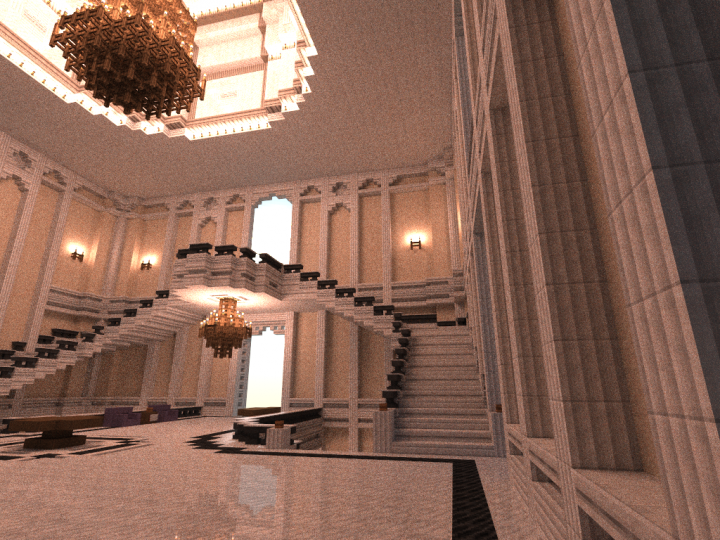 Foyer Grand Chatel Redon : Mega mansion le chateau d empereur minecraft project