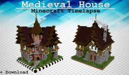 Mediveal Minecraft House | Timelapse Speed Build | +Free Map Download Minecraft Project