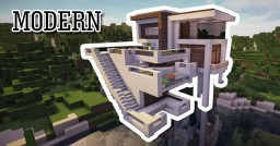Modern Cliff House Minecraft Project