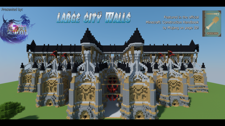 Large Medieval City Walls Minecraft Project