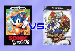 2D to 3D | Sonic The Hedgehog VS. Sonic Adventure.
