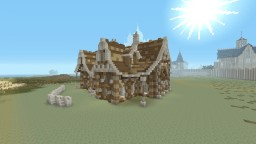 Medieval Noble mans's house I built today Minecraft Project