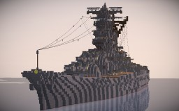 IJN Battleship Yamato (1/1 scale) Minecraft Map & Project